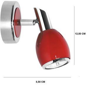 Bodové svítidlo Colors 1xGU10 50W červený/chróm
