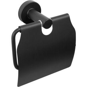 Držák na toaletní papír s klapkou Carbon černý