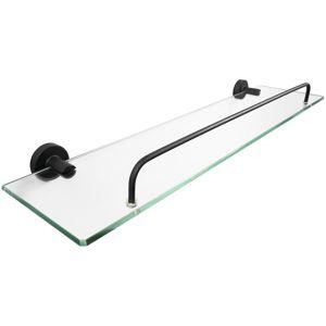 Police pod zrcadlo Carbon sklo mat