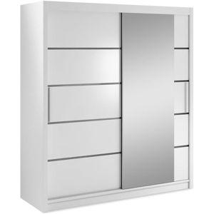Skříň Verona 180cm Bílý/Zrcadlo