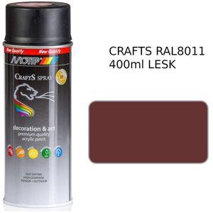 Sprej Crafts hnědá RAL8011 400ml