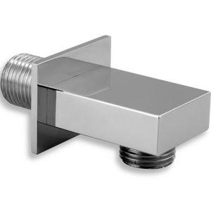 Stenový vývod hranatý sprchy chrom d/hrana,0
