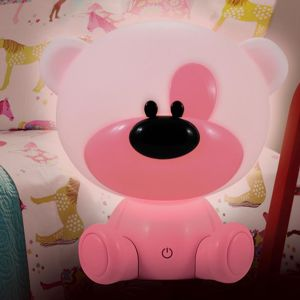 Stolní lampa myš Bibi LED 309907 LB1 růžový
