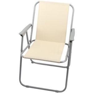 Zahradní židle skládací Piknik béžová
