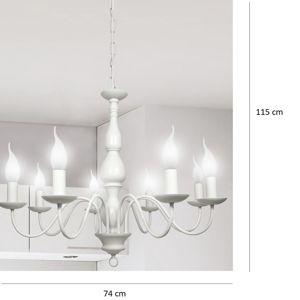 Závěsné svítidlo Bellagio 8x40W E14